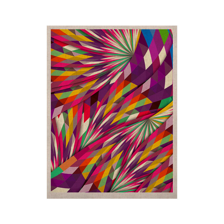 "Danny Ivan ""Sweet"" Multicolor Geometric KESS Naturals Canvas (Frame not Included) - KESS InHouse  - 1"