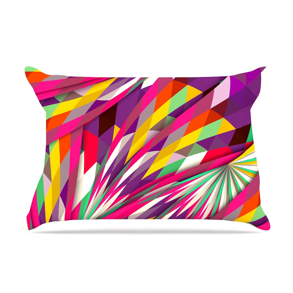 "Danny Ivan ""Sweet"" Multicolor Geometric Pillow Sham - KESS InHouse"