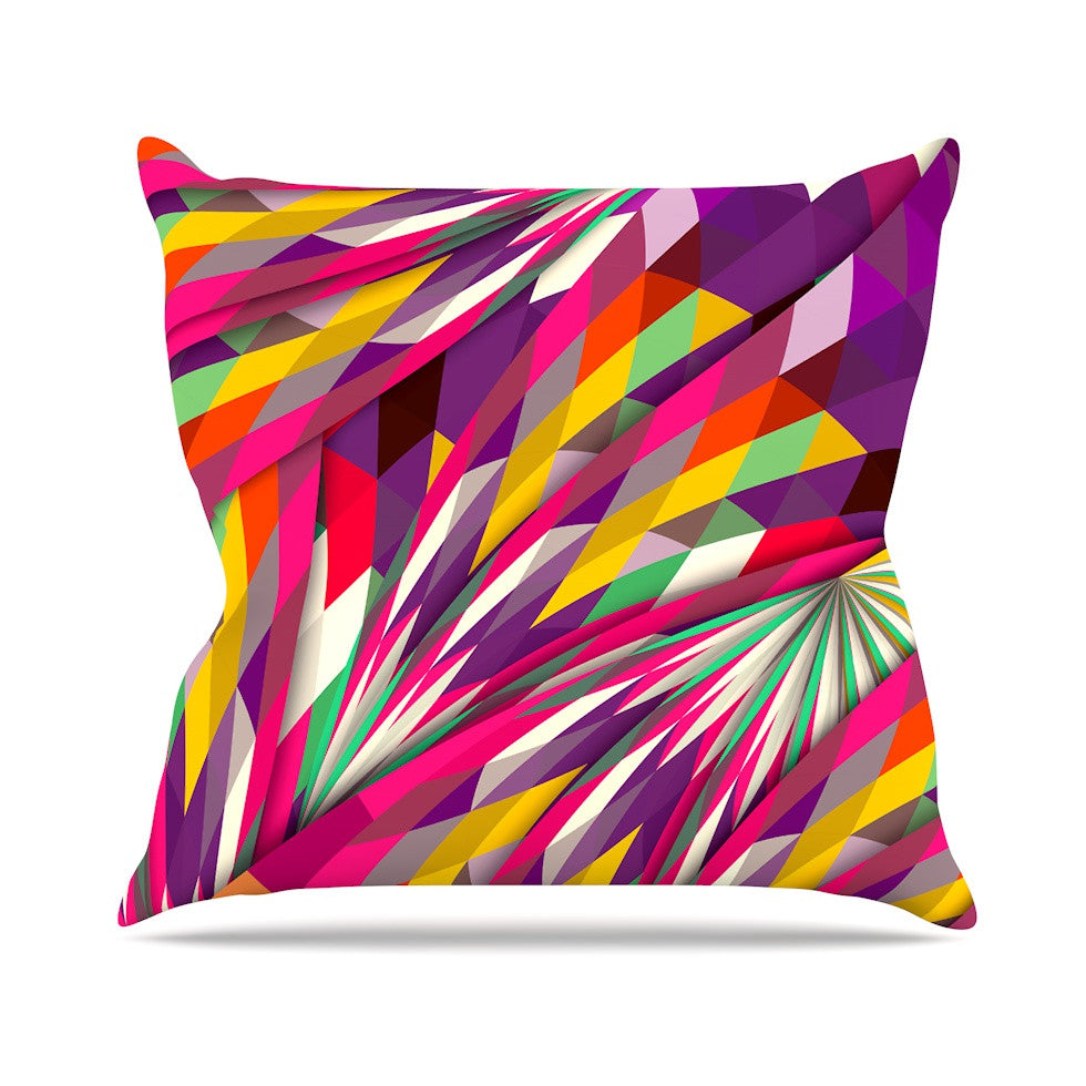 "Danny Ivan ""Sweet"" Multicolor Geometric Outdoor Throw Pillow - KESS InHouse  - 1"