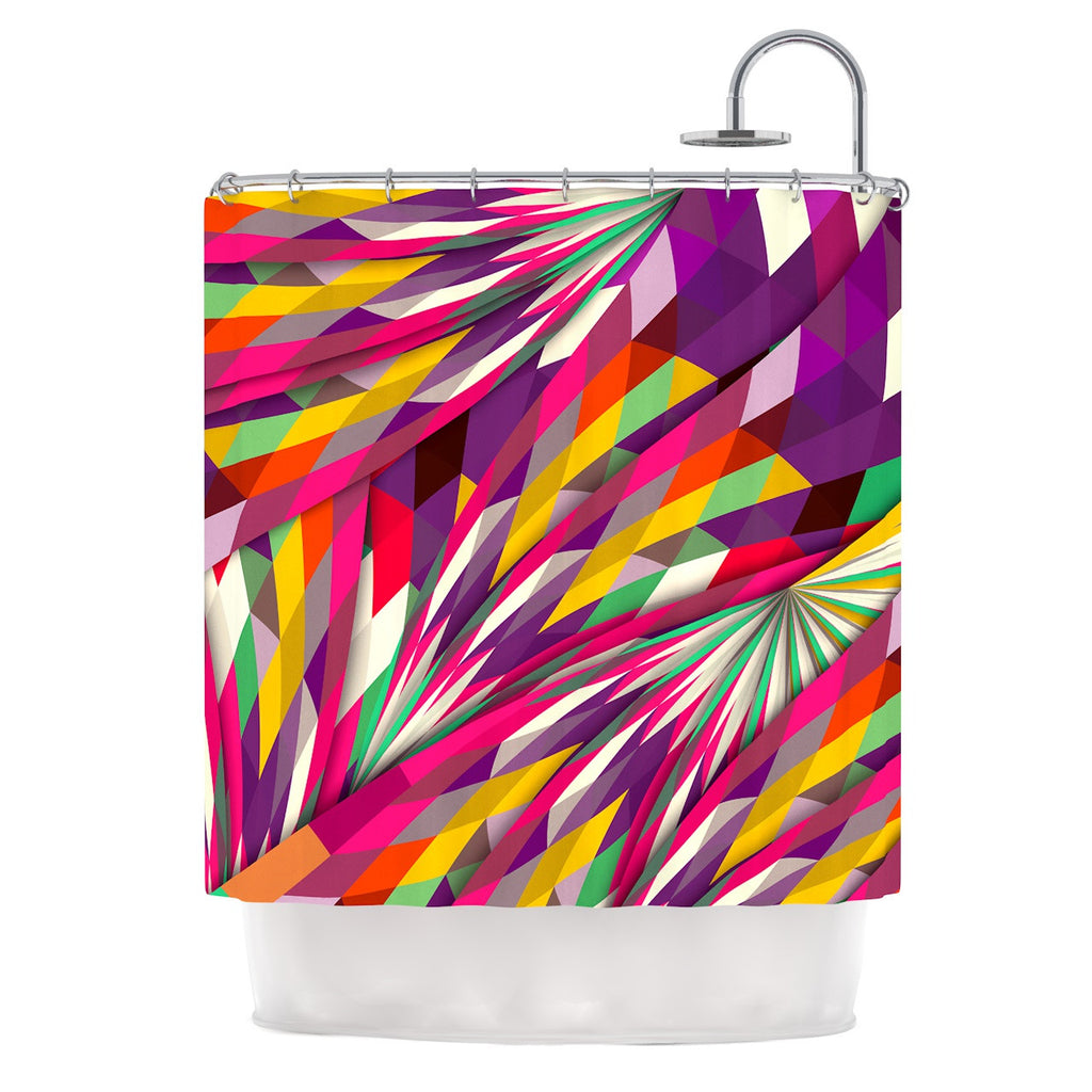 "Danny Ivan ""Sweet"" Multicolor Geometric Shower Curtain - KESS InHouse"
