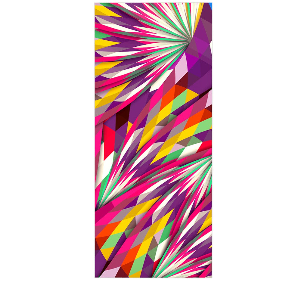 "Danny Ivan ""Sweet"" Multicolor Geometric Luxe Rectangle Panel - KESS InHouse  - 1"