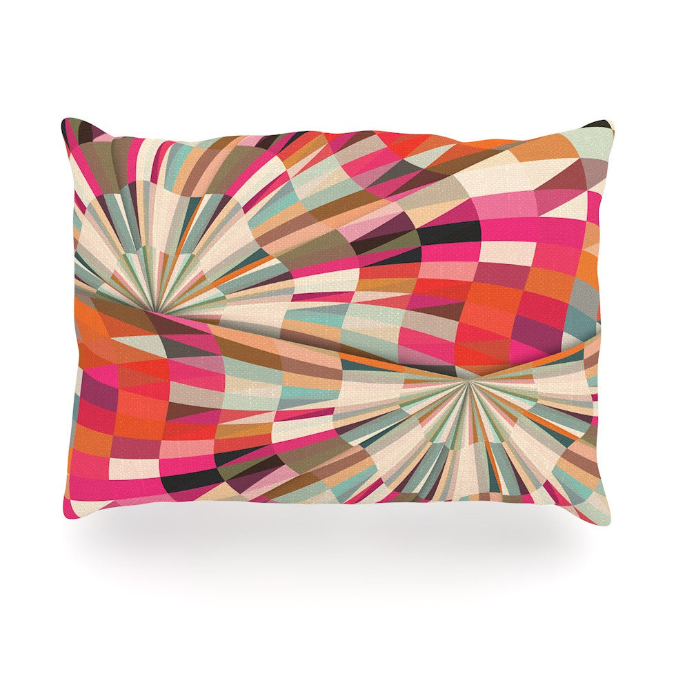 "Danny Ivan ""Convoke"" Multicolor Geometric Oblong Pillow - KESS InHouse"
