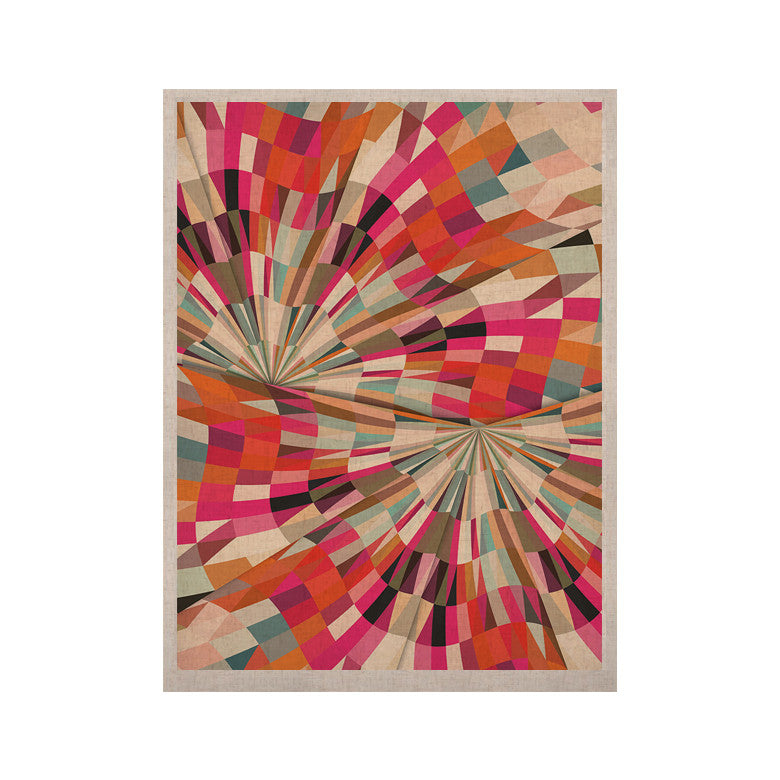 "Danny Ivan ""Convoke"" Multicolor Geometric KESS Naturals Canvas (Frame not Included) - KESS InHouse  - 1"