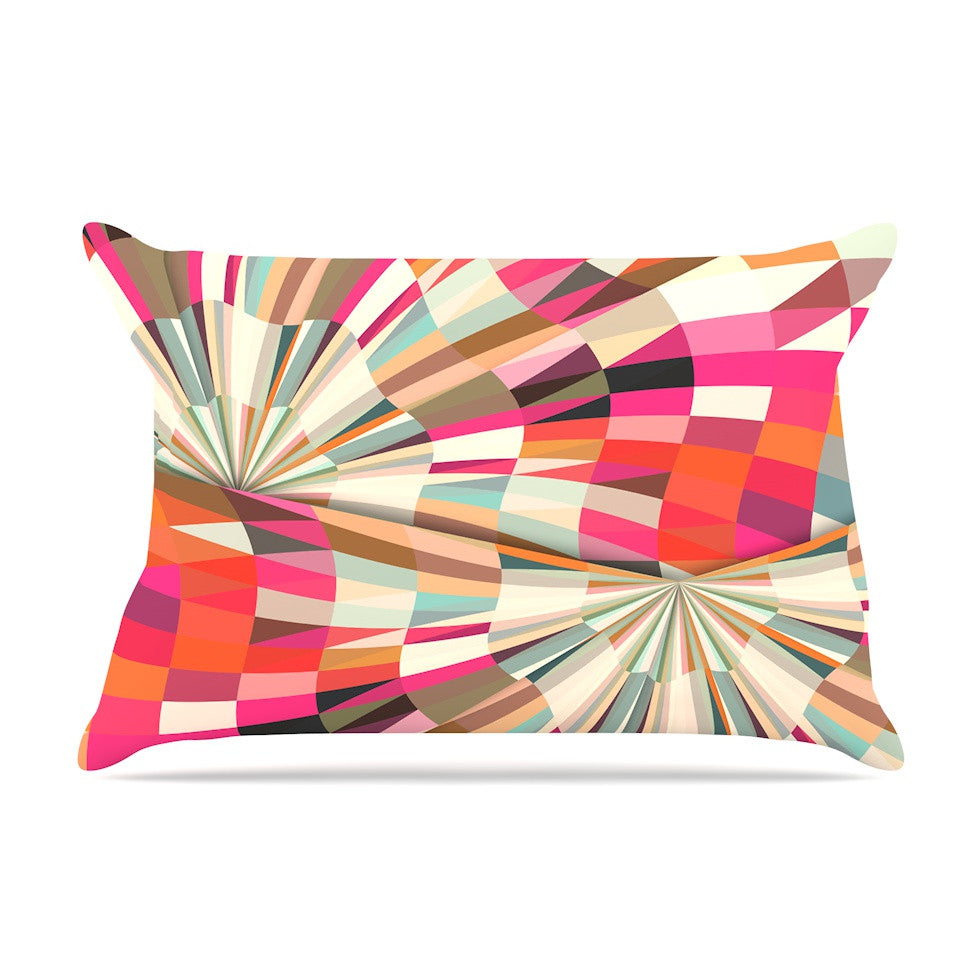"Danny Ivan ""Convoke"" Multicolor Geometric Pillow Sham - KESS InHouse"