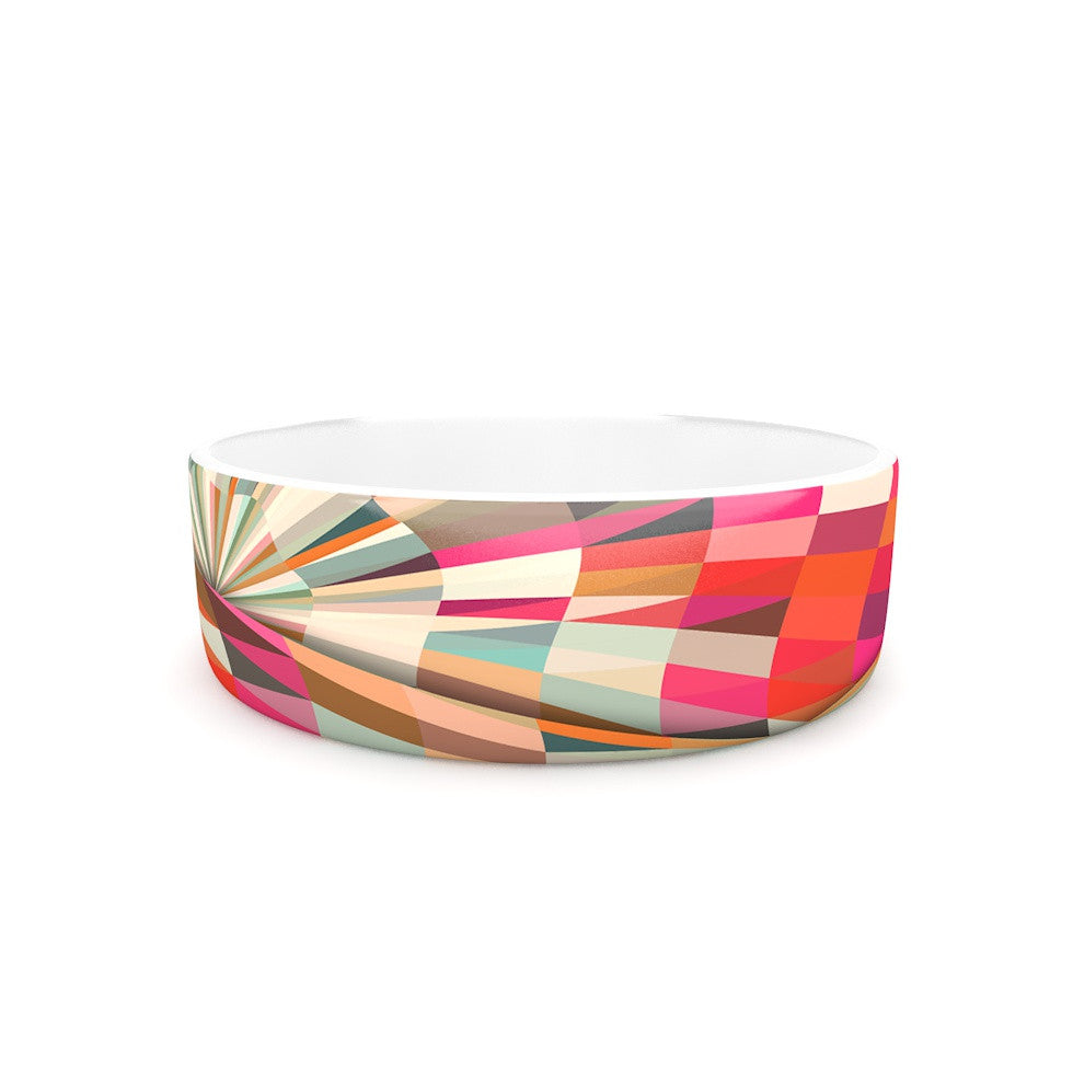 "Danny Ivan ""Convoke"" Multicolor Geometric Pet Bowl - KESS InHouse"
