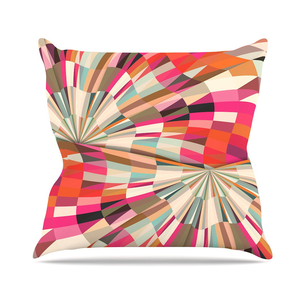 "Danny Ivan ""Convoke"" Multicolor Geometric Outdoor Throw Pillow - KESS InHouse  - 1"