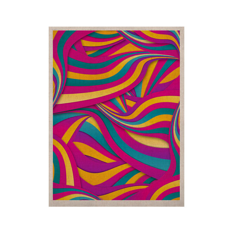 "Danny Ivan ""Swirls Everywhere"" Pink Teal KESS Naturals Canvas (Frame not Included) - KESS InHouse  - 1"