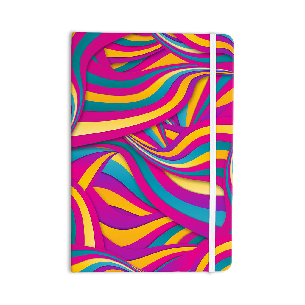 "Danny Ivan ""Swirls Everywhere"" Pink Teal Everything Notebook - KESS InHouse  - 1"