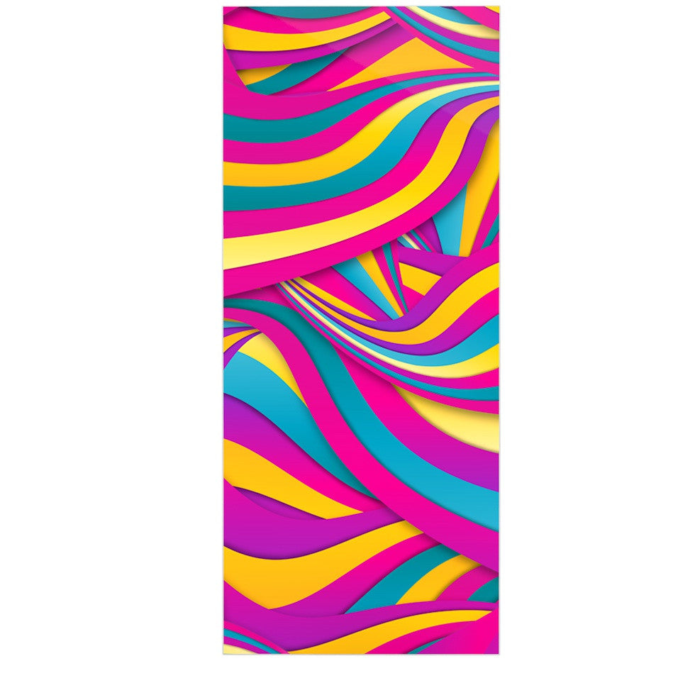 "Danny Ivan ""Swirls Everywhere"" Pink Teal Luxe Rectangle Panel - KESS InHouse  - 1"
