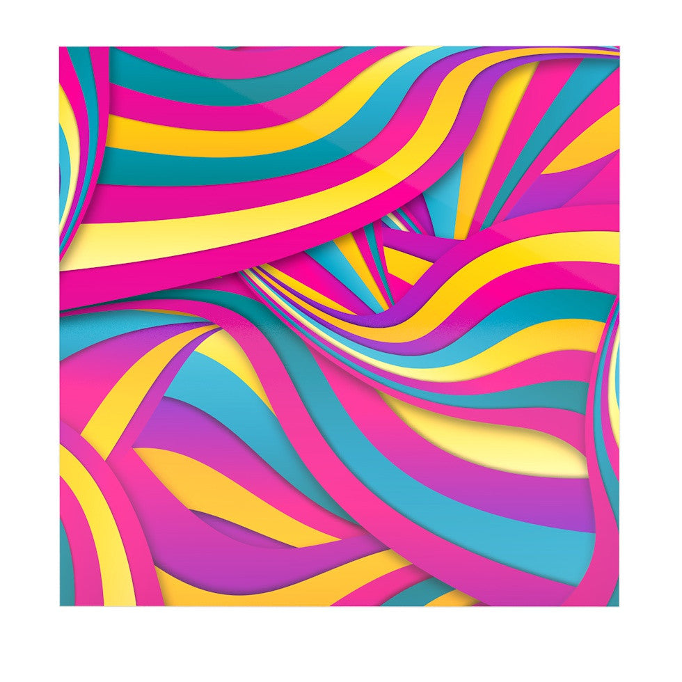 "Danny Ivan ""Swirls Everywhere"" Pink Teal Luxe Square Panel - KESS InHouse  - 1"
