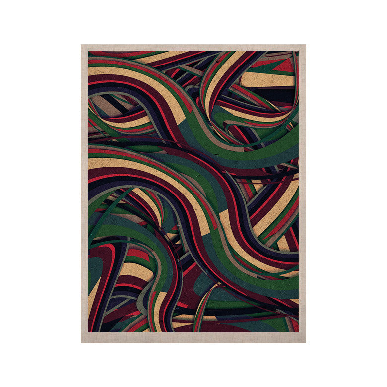 "Danny Ivan ""Swirl Madness"" Dark Geometric KESS Naturals Canvas (Frame not Included) - KESS InHouse  - 1"