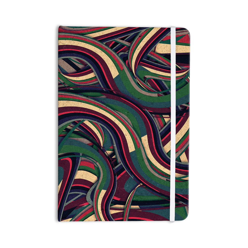 "Danny Ivan ""Swirl Madness"" Dark Geometric Everything Notebook - KESS InHouse  - 1"