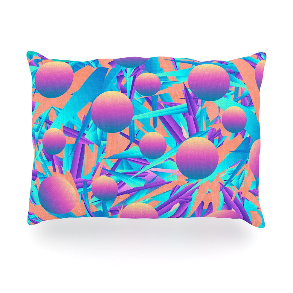 "Danny Ivan ""Blind Face"" Blue Pink Oblong Pillow - KESS InHouse"