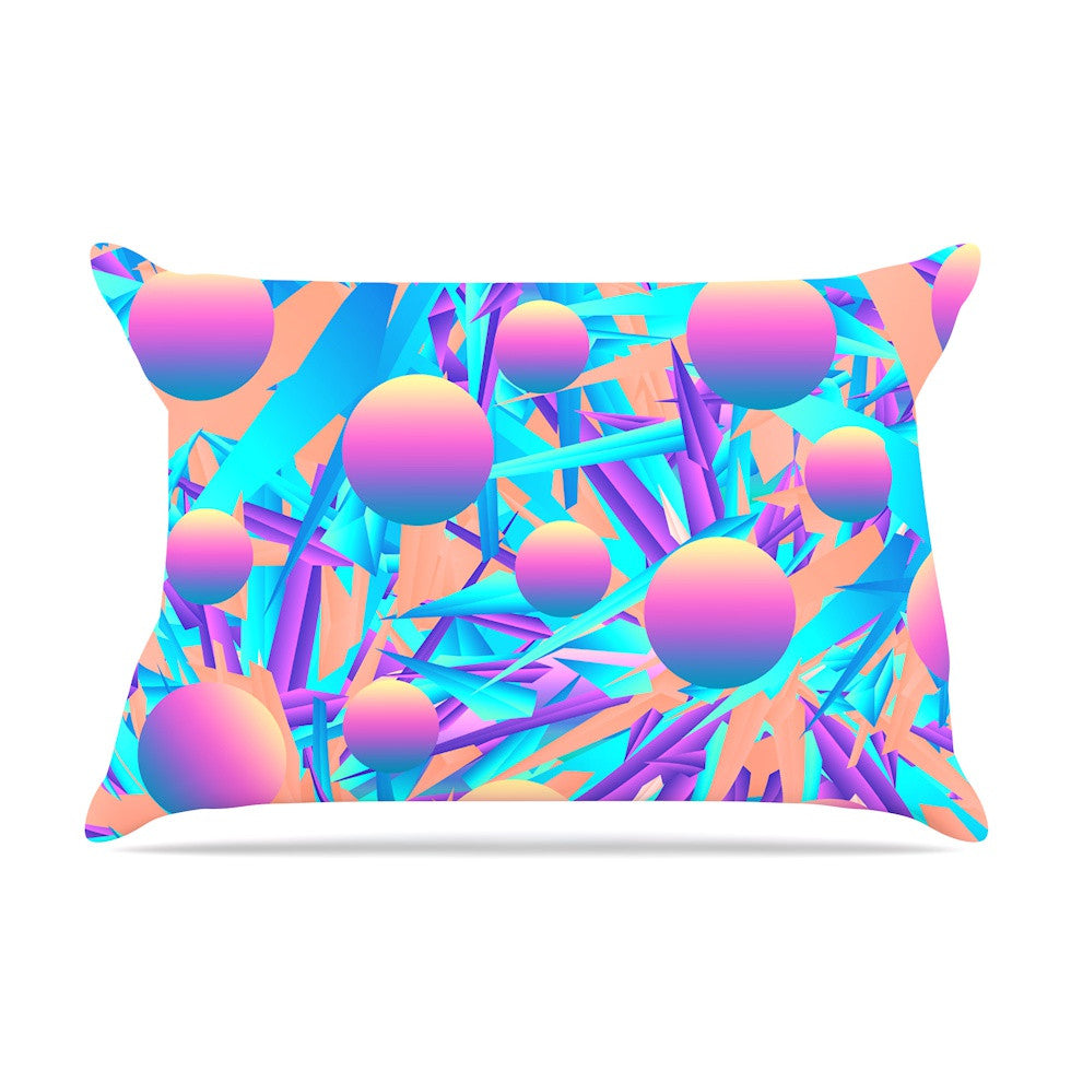 "Danny Ivan ""Blind Face"" Pink Blue Pillow Sham - KESS InHouse"