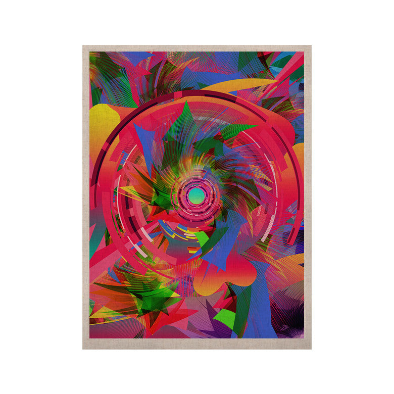 "Danny Ivan ""Fun Hole"" Pink Multicolor KESS Naturals Canvas (Frame not Included) - KESS InHouse  - 1"
