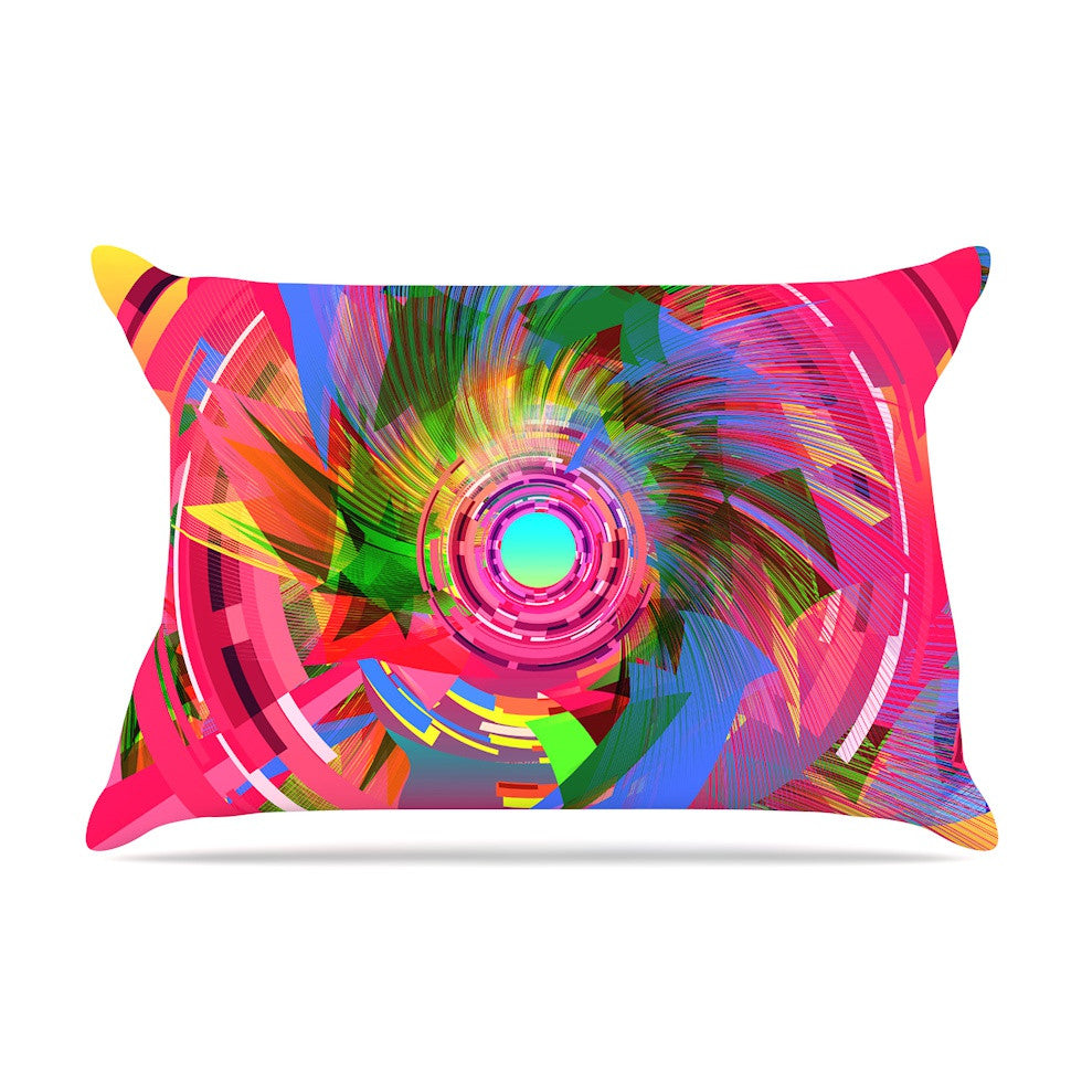 "Danny Ivan ""Fun Hole"" Pink Multicolor Pillow Sham - KESS InHouse"