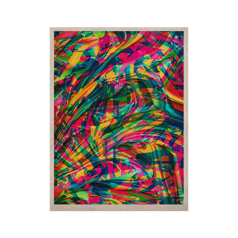 "Danny Ivan ""Wild Abstract"" Rainbow Illustration KESS Naturals Canvas (Frame not Included) - KESS InHouse  - 1"