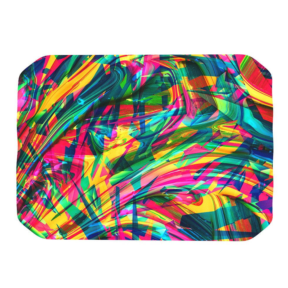 "Danny Ivan ""Wild Abstract"" Rainbow Illustration Place Mat - KESS InHouse"