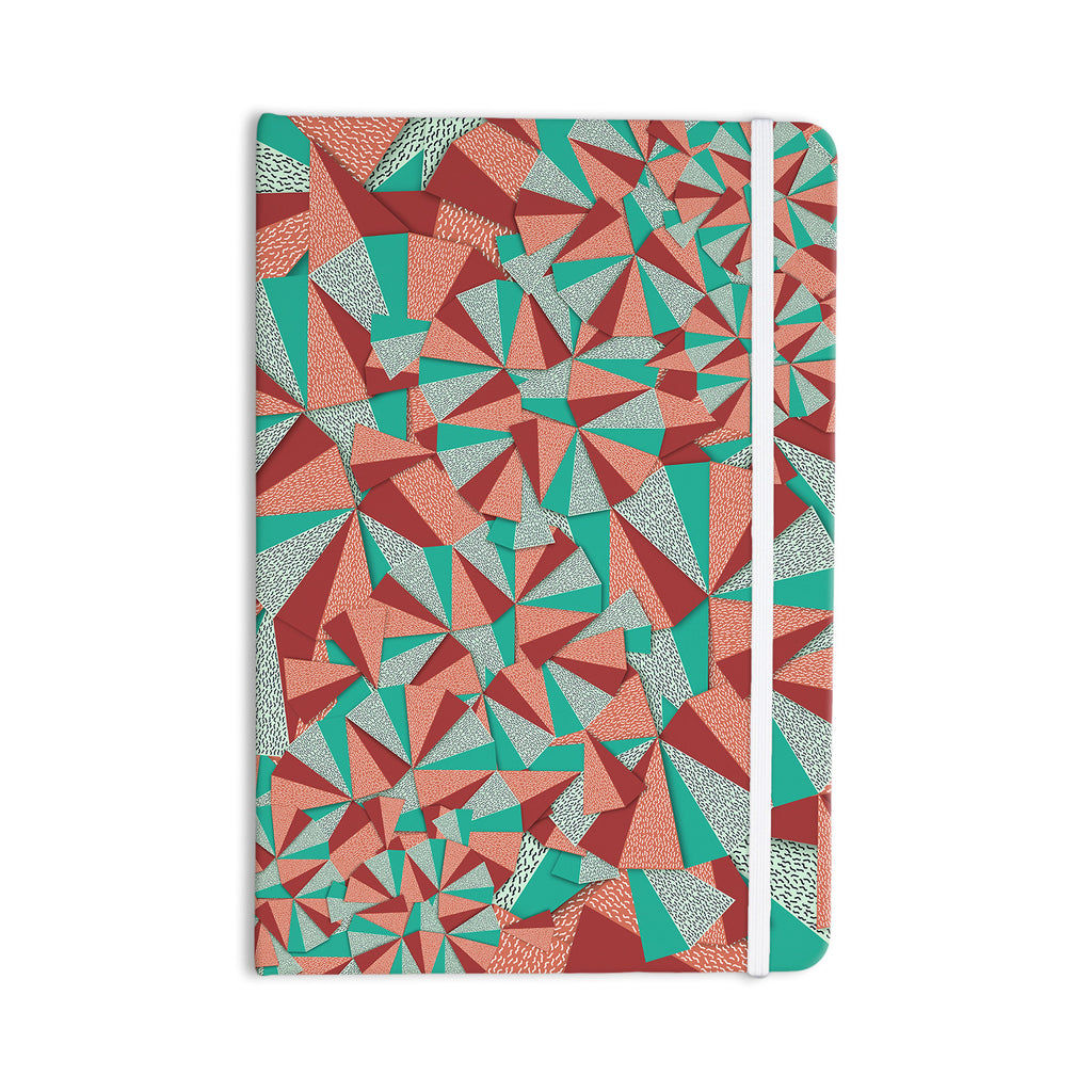 "Danny Ivan ""Marsala Pattern"" Teal Red Everything Notebook - KESS InHouse  - 1"