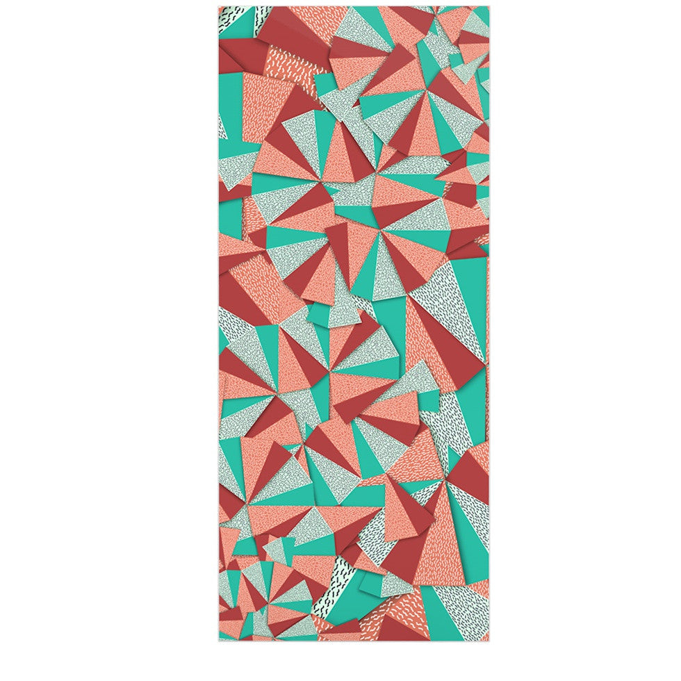 "Danny Ivan ""Marsala Pattern"" Teal Red Luxe Rectangle Panel - KESS InHouse  - 1"
