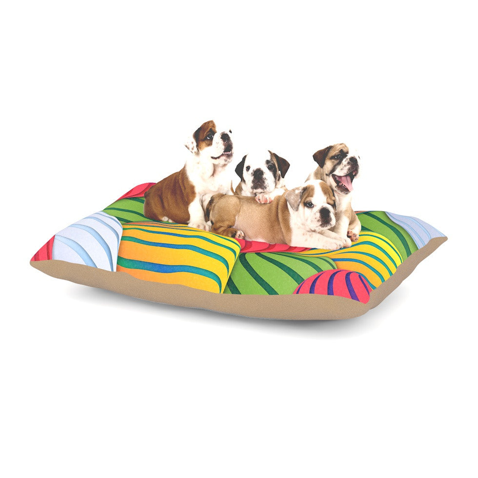 "Danny Ivan ""Melons"" Pink Green Dog Bed - KESS InHouse  - 1"