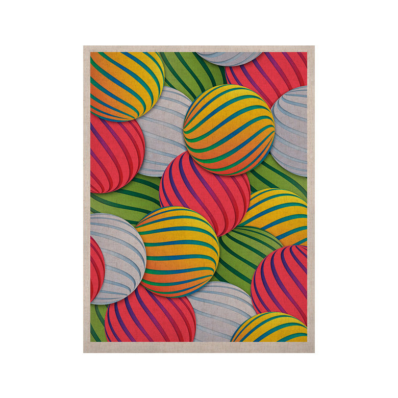"Danny Ivan ""Melons"" Pink Green KESS Naturals Canvas (Frame not Included) - KESS InHouse  - 1"