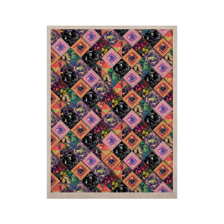 "Danny Ivan ""Never Run Away"" Multicolor Geometric KESS Naturals Canvas (Frame not Included) - KESS InHouse  - 1"