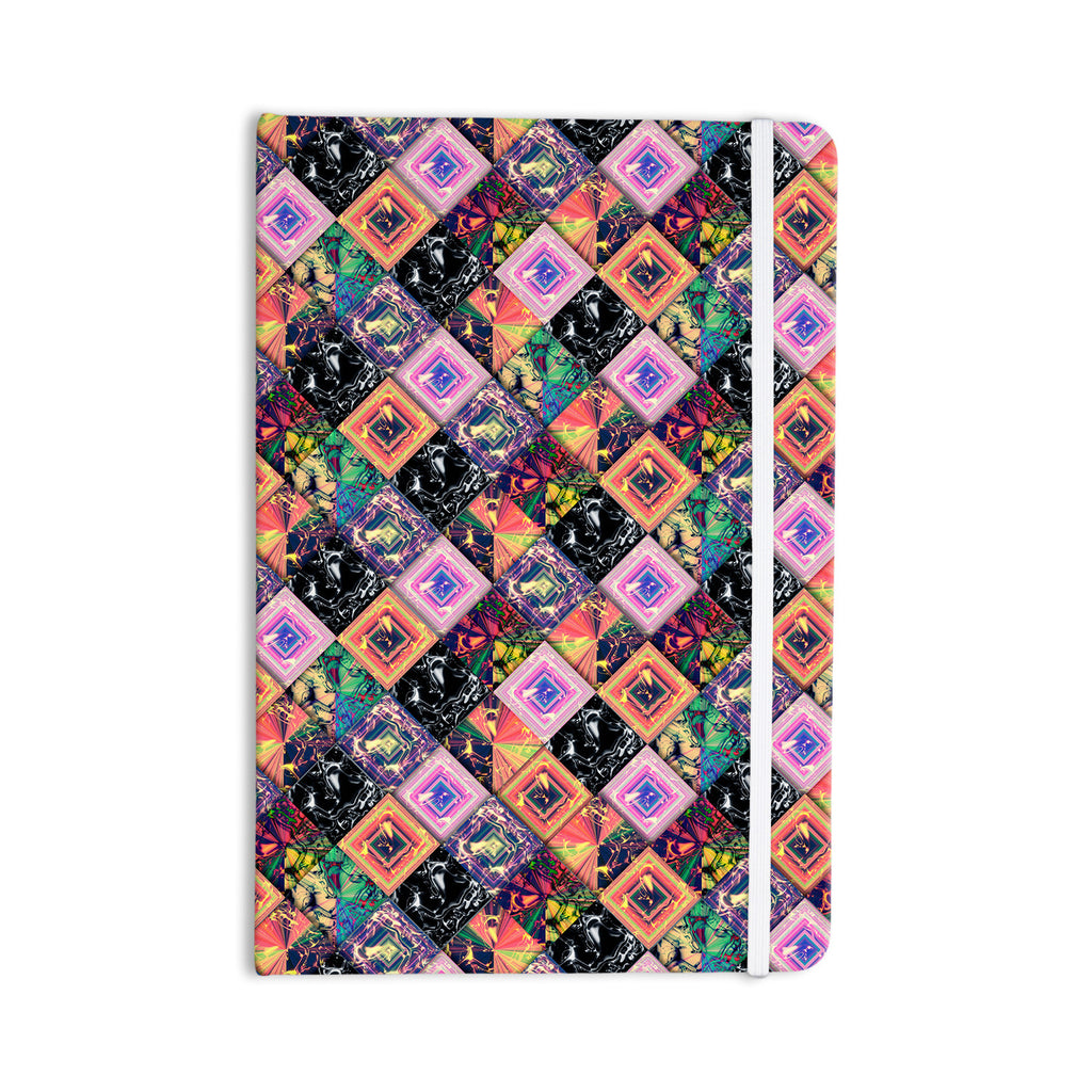 "Danny Ivan ""Never Run Away"" Multicolor Geometric Everything Notebook - KESS InHouse  - 1"