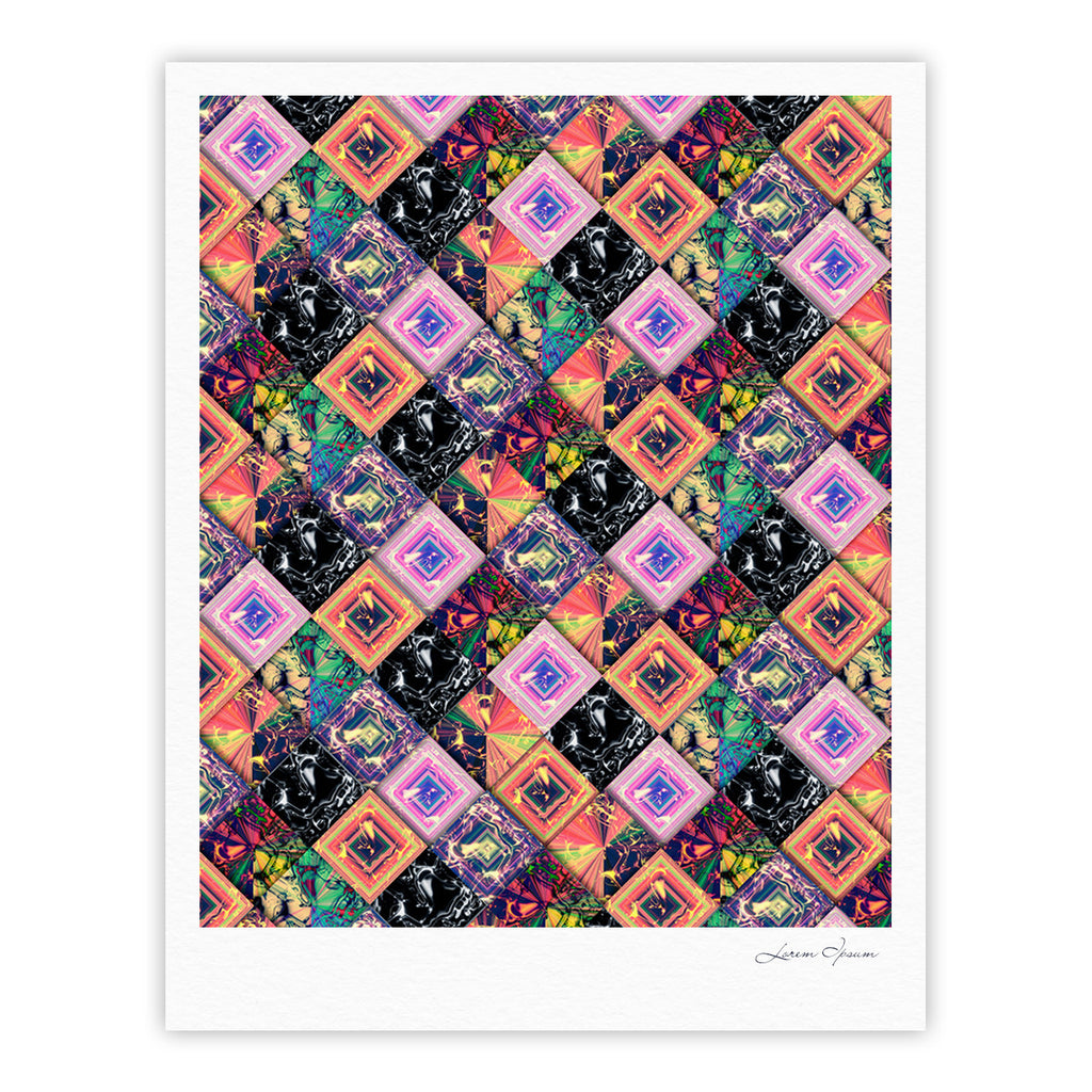 "Danny Ivan ""Never Run Away"" Multicolor Geometric Fine Art Gallery Print - KESS InHouse"
