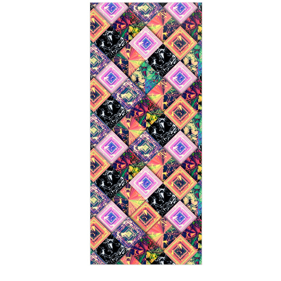"Danny Ivan ""Never Run Away"" Multicolor Geometric Luxe Rectangle Panel - KESS InHouse  - 1"