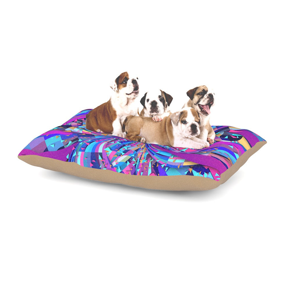 "Danny Ivan ""Flavours Explosion"" Purple Blue Dog Bed - KESS InHouse  - 1"