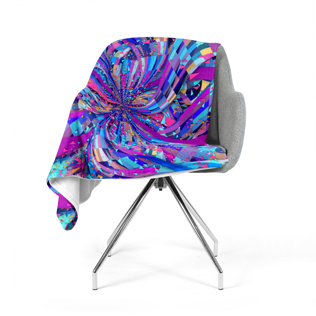 "Danny Ivan ""Flavours Explosion"" Purple Blue Fleece Throw Blanket"