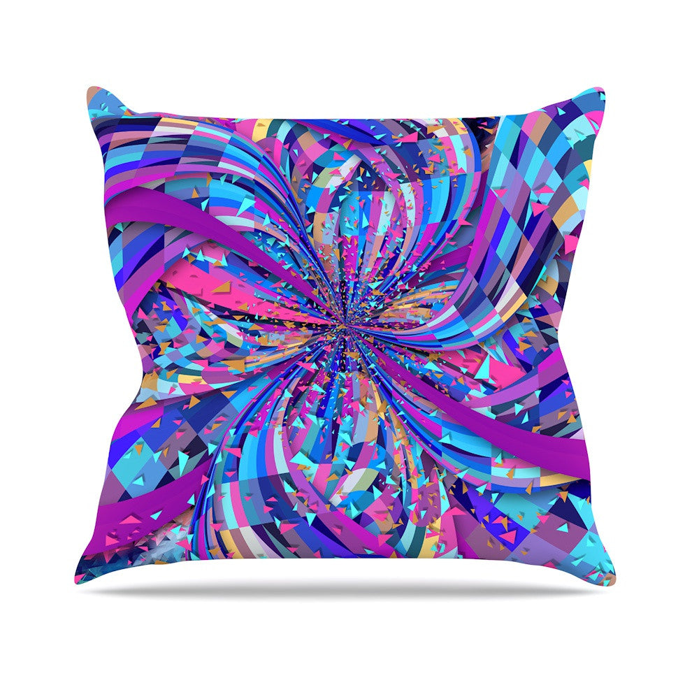 "Danny Ivan ""Flavours Explosion"" Purple Blue Outdoor Throw Pillow - KESS InHouse  - 1"