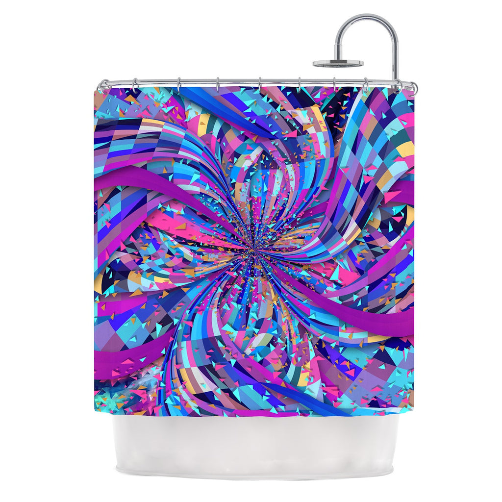 "Danny Ivan ""Flavours Explosion"" Purple Blue Shower Curtain - KESS InHouse"