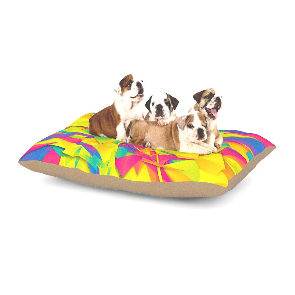 "Danny Ivan ""Bubble Gum Explosion"" Pink Yellow Dog Bed - KESS InHouse  - 1"