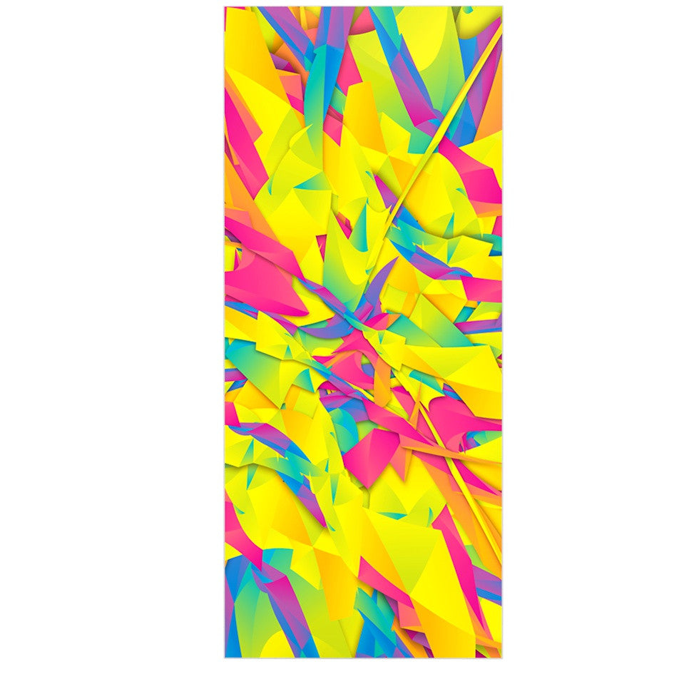 "Danny Ivan ""Bubble Gum Explosion"" Pink Yellow Luxe Rectangle Panel - KESS InHouse  - 1"