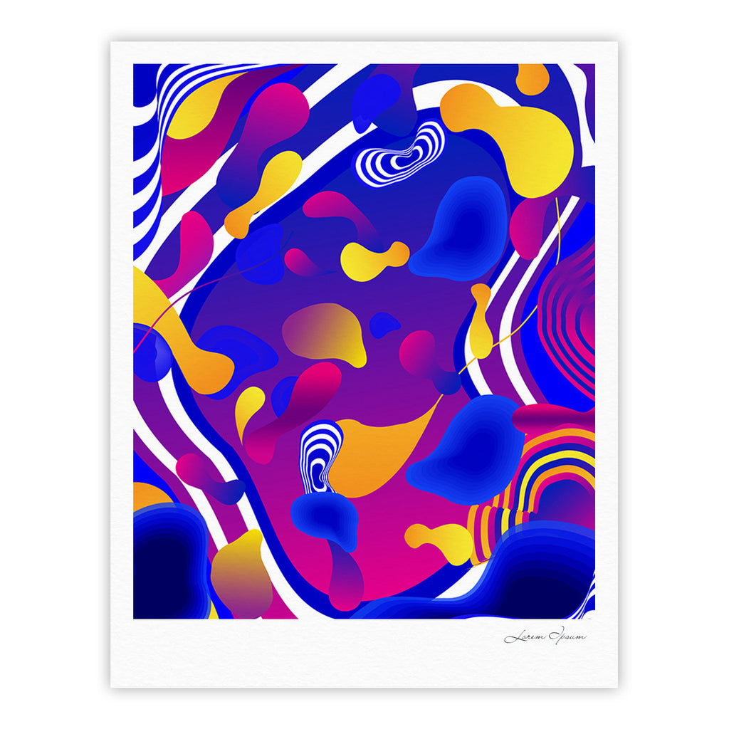 "Danny Ivan ""Bubbles"" Blue Purple Fine Art Gallery Print - KESS InHouse"
