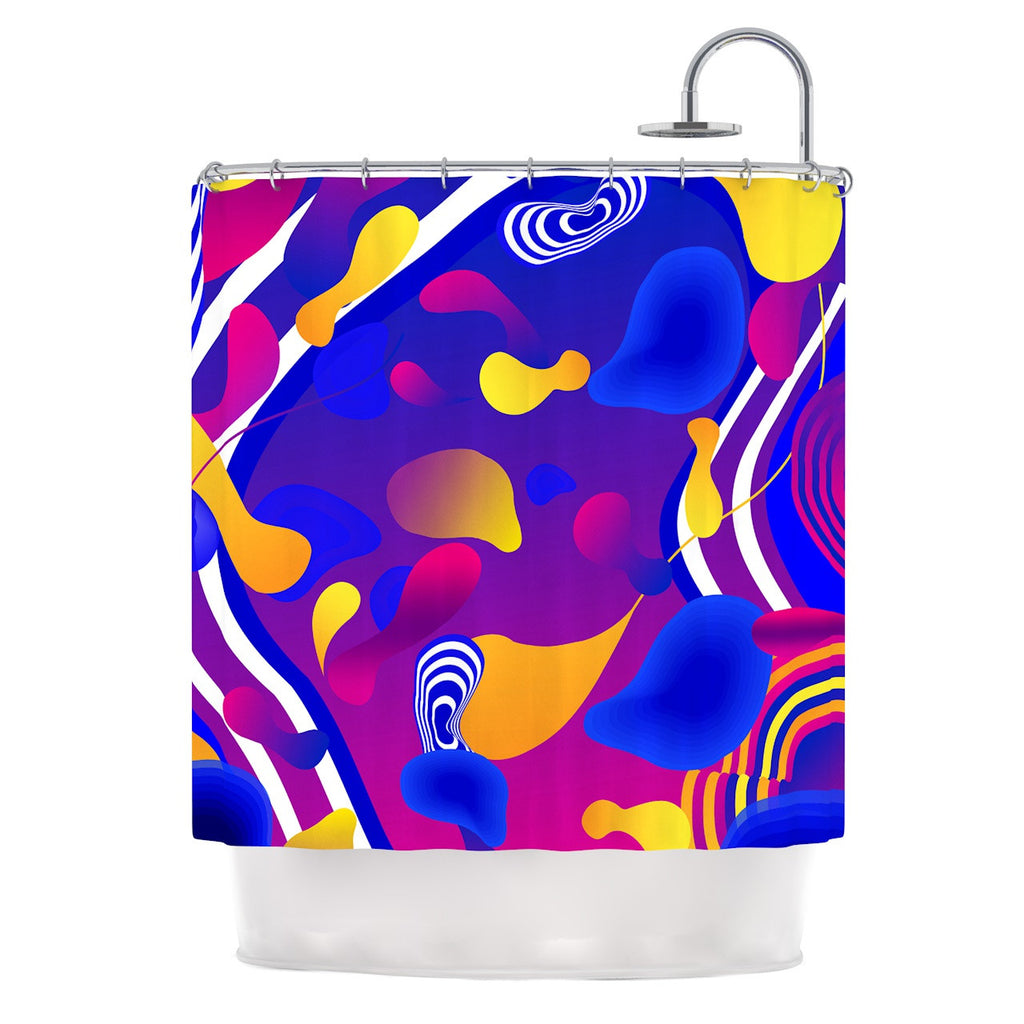 "Danny Ivan ""Bubbles"" Blue Purple Shower Curtain - KESS InHouse"