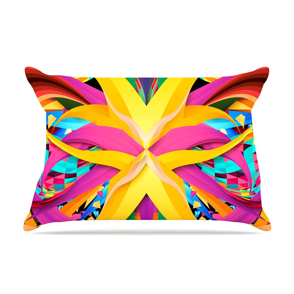 "Danny Ivan ""Tropical Fun"" Yellow Pink Pillow Sham - KESS InHouse"