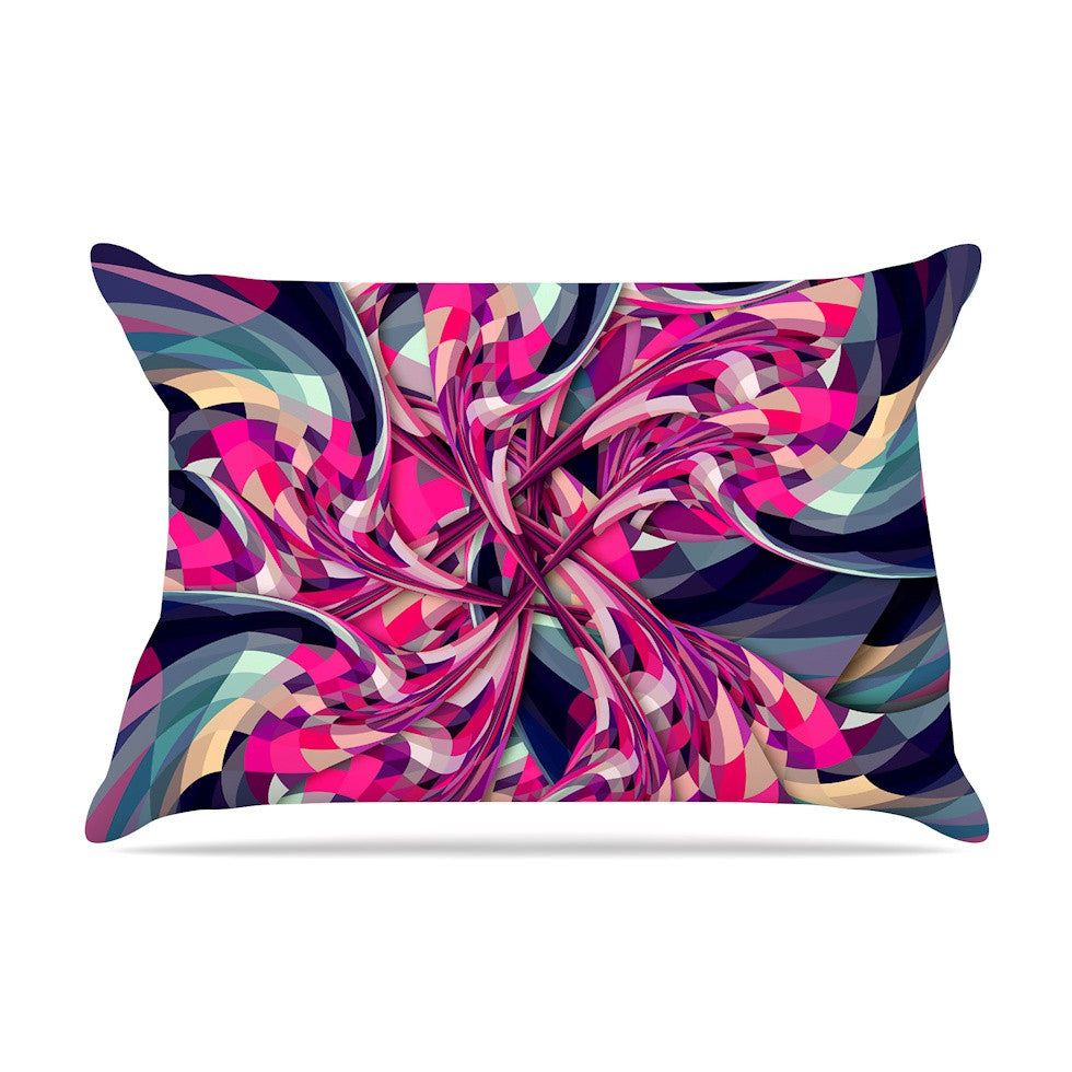 "Danny Ivan ""Purple Spiral"" Pink Geometric Pillow Sham - KESS InHouse"