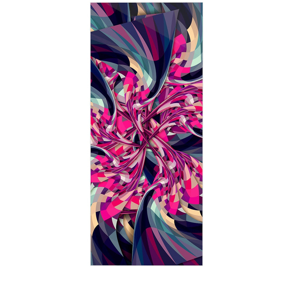 "Danny Ivan ""Purple Spiral"" Pink Geometric Luxe Rectangle Panel - KESS InHouse  - 1"