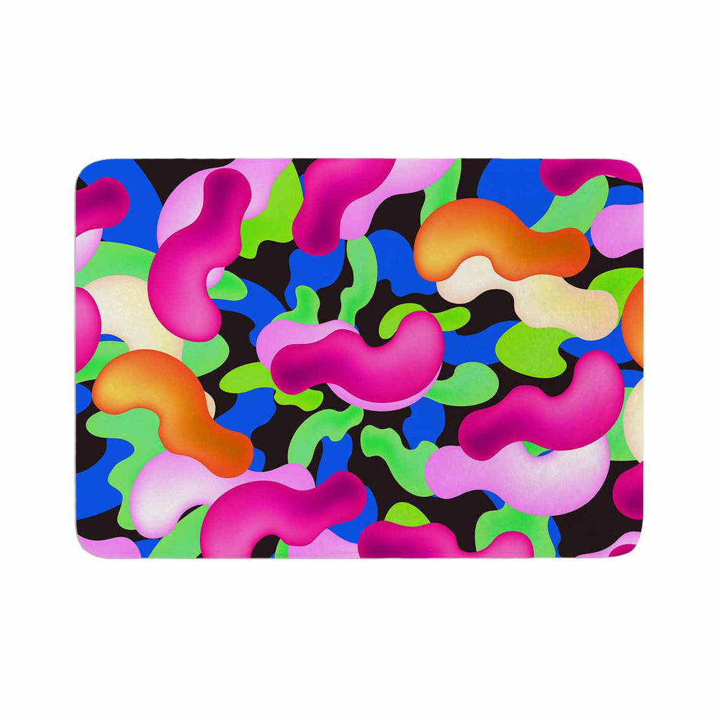 "Danny Ivan ""Thing"" Purple Pink Memory Foam Bath Mat - KESS InHouse"