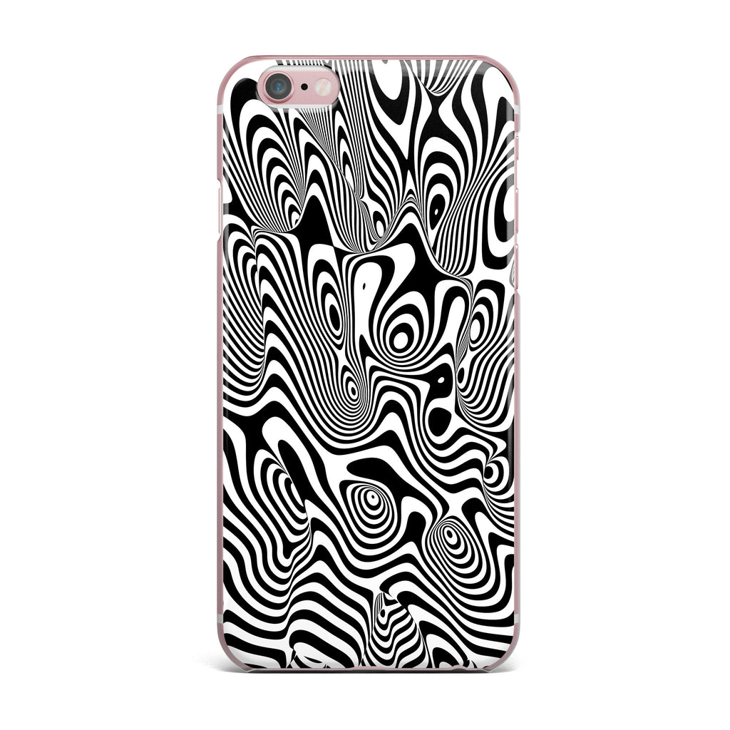 "Danny Ivan ""Trippy"" Black White iPhone Case - KESS InHouse"