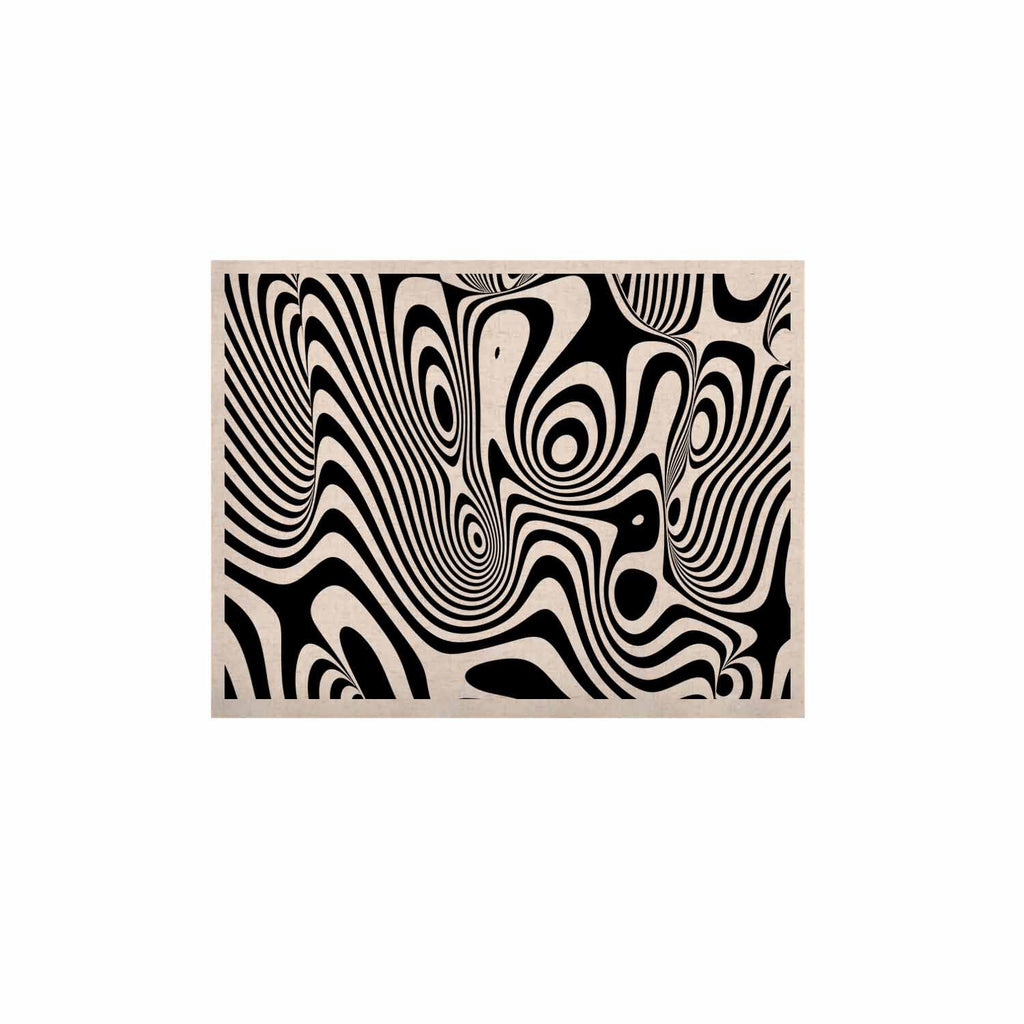 "Danny Ivan ""Trippy"" Black White KESS Naturals Canvas (Frame not Included) - KESS InHouse  - 1"