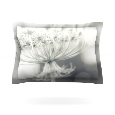 "Debbra Obertanec ""Queen"" White Flower Pillow Sham - Outlet Item"