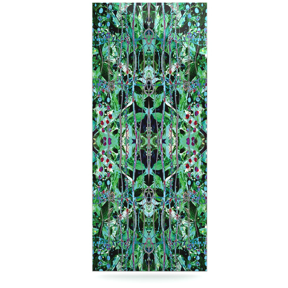 "Danii Pollehn ""Grun"" Green Abstract Luxe Rectangle Panel - KESS InHouse  - 1"