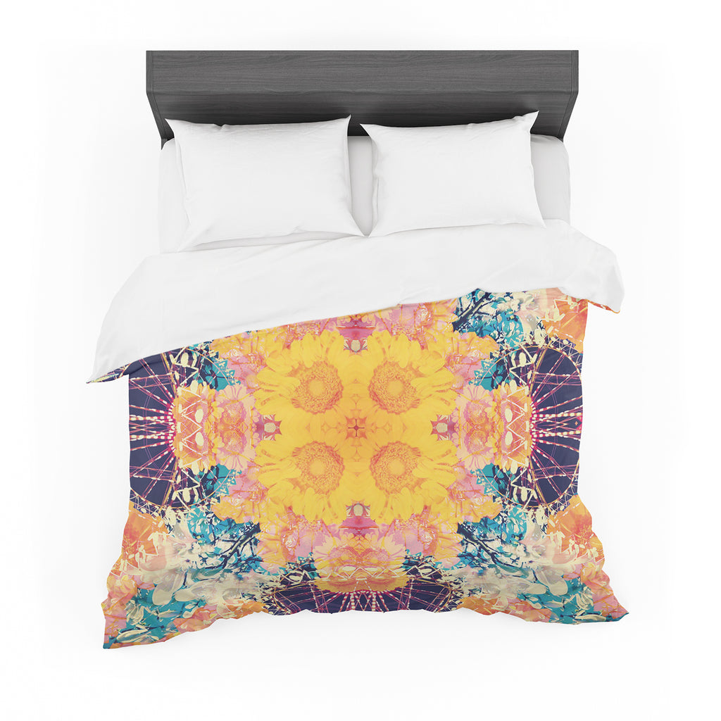 "Danii Pollehn ""Unbenannt"" Purple Orange Featherweight Duvet Cover"