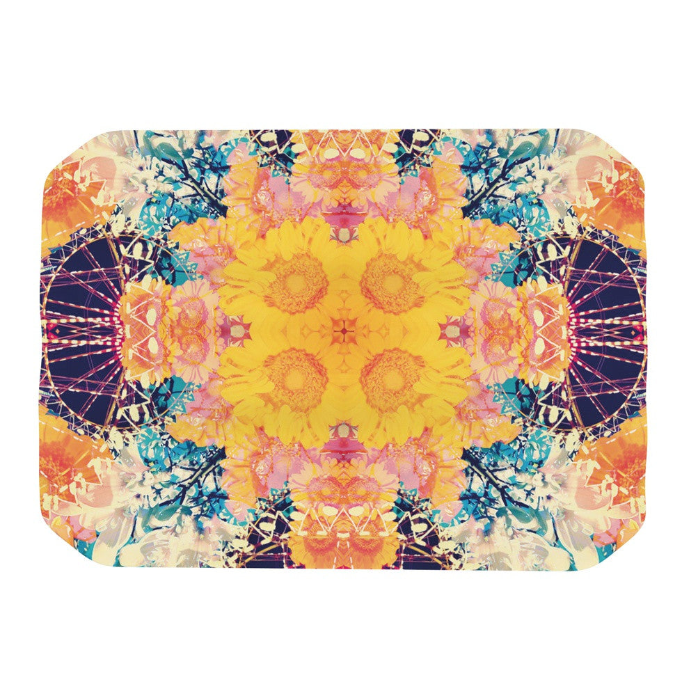 "Danii Pollehn ""Unbenannt"" Purple Orange Place Mat - KESS InHouse"