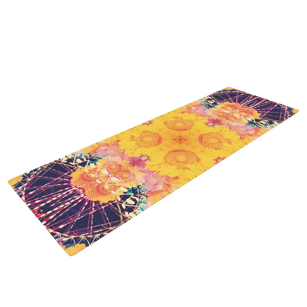 "Danii Pollehn ""Unbenannt"" Purple Orange Yoga Mat - KESS InHouse  - 1"