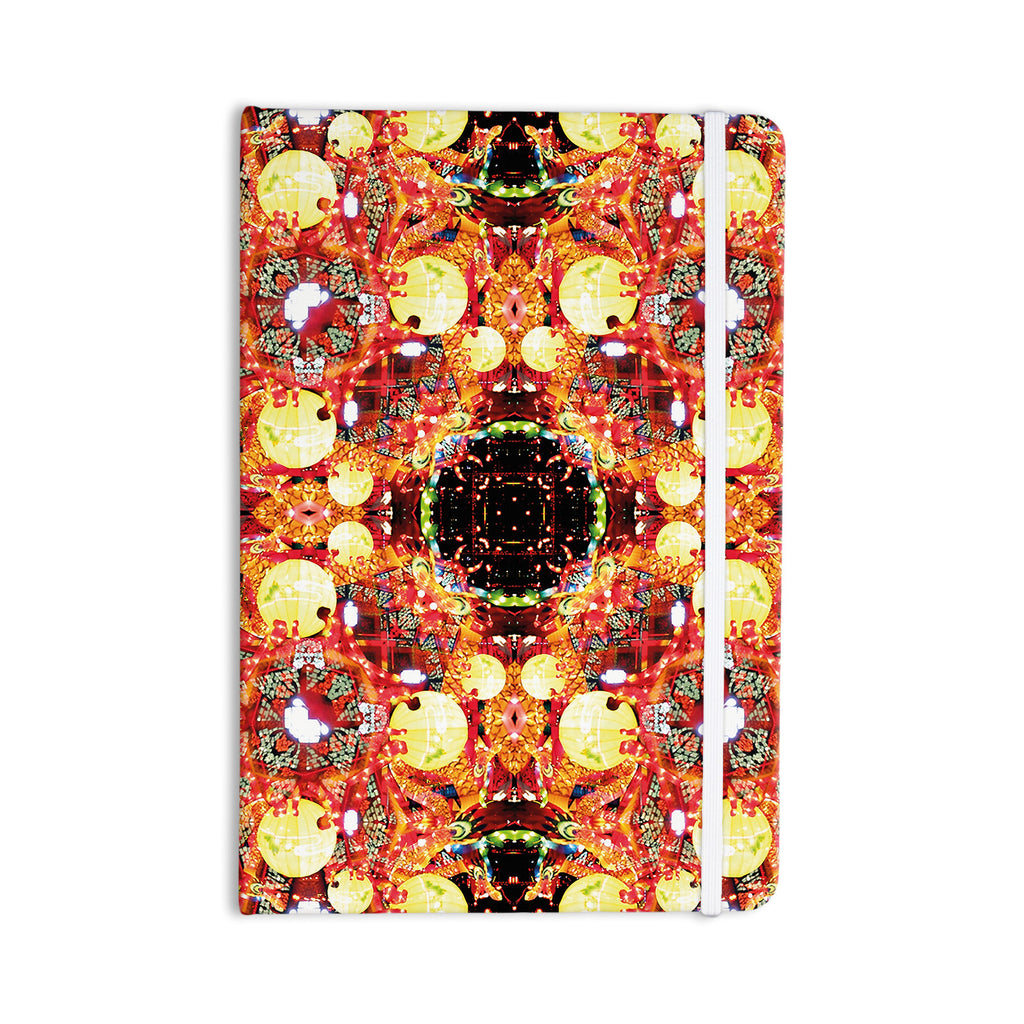 "Danii Pollehn ""China"" Gold Red Everything Notebook - KESS InHouse  - 1"